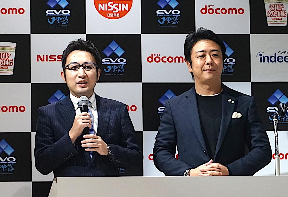 福岡地域戦略推進協議会事務局長 石丸修平氏(左)と髙島市長