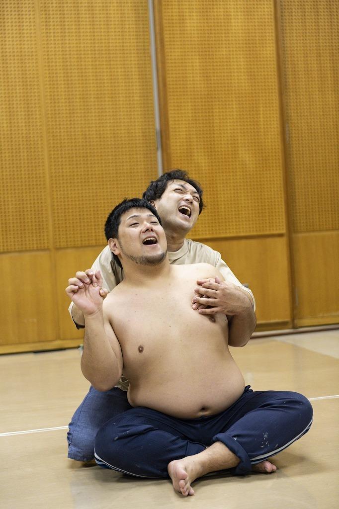 劇団 短距離男道ミサイル オンラインプレイベント、公開稽古より  写真:小田島万里