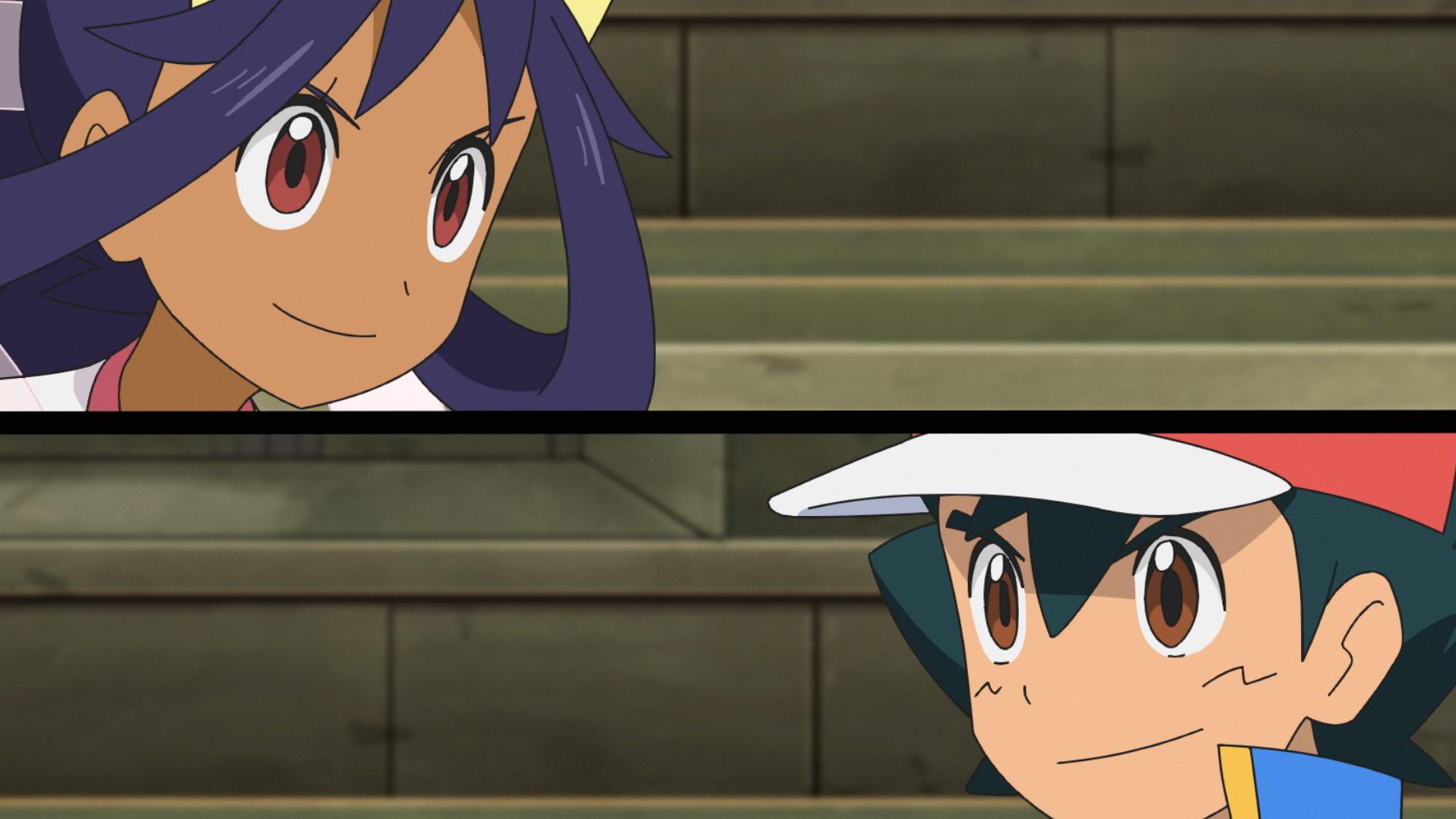 アイリスVSサトシ (C) Nintendo・Creatures・GAME FREAK・TV Tokyo・ShoPro・JR Kikaku (C)  Pokémon