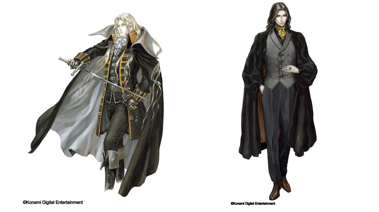 アルカード(左)有角幻也(右) (C)Konami Digital Entertainment