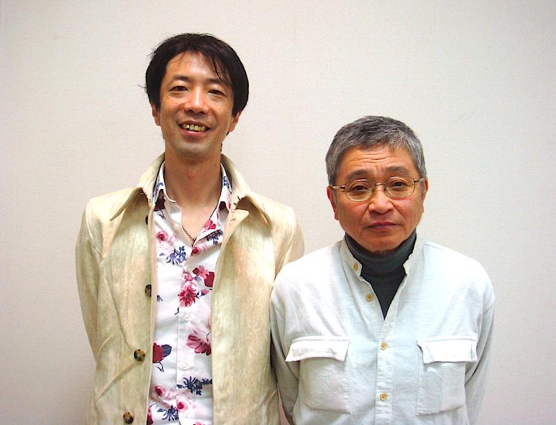 左から・作家の諏訪哲史、劇作家の北村想