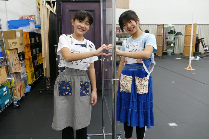 荒井美虹(チーム・バケツ)  德山しずく(チーム・モップ)