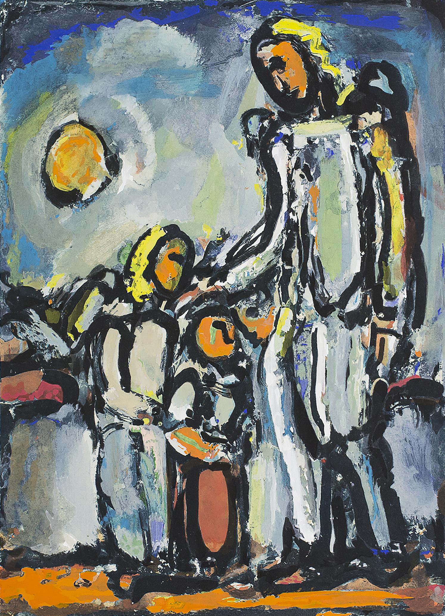 会期②出品作品:《守護の天使》 、 ジョルジュ・ルオー《守護の天使》(1945)に基づく複製画、 ジョルジュ・ルオー財団、パリ Photo : Alain Beulé