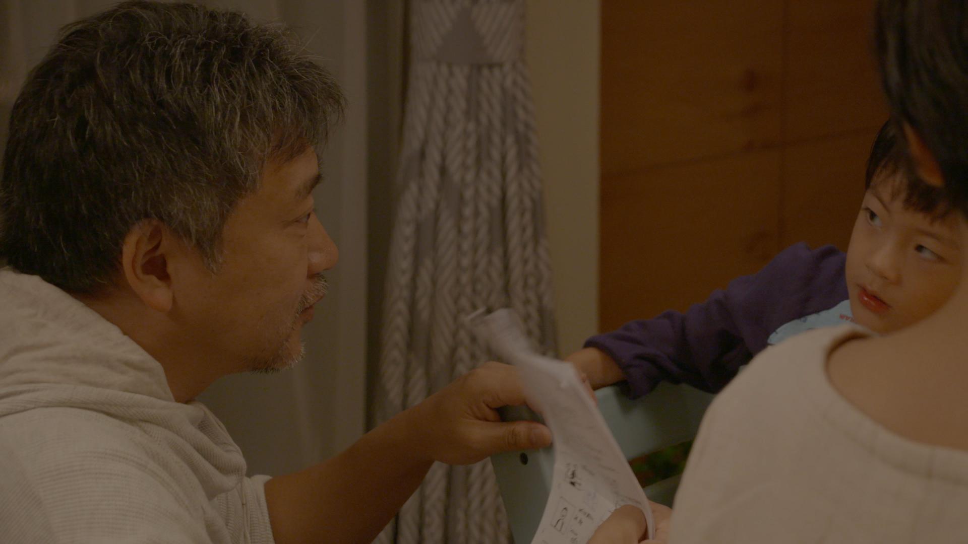 是枝裕和監督(メイキング映像より)