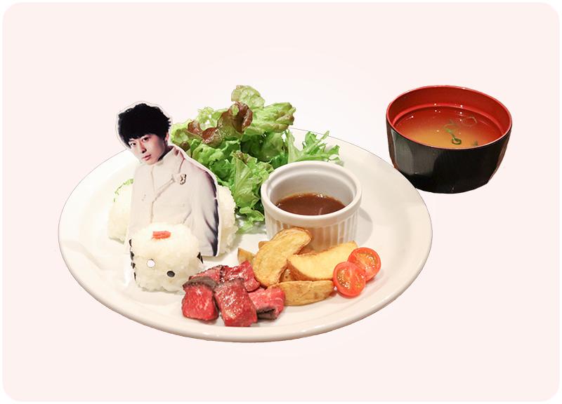 工藤大輝プロデュース  サイコロステーキ&サイコロおにぎり
