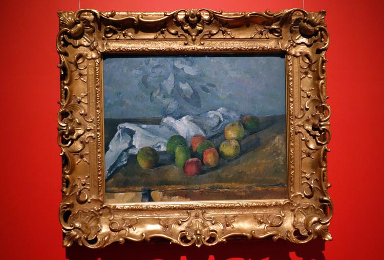 ポール・セザンヌ《りんごとナプキン》1879-80 油彩・キャンヴァス SOMPO美術館