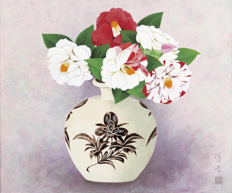 山口蓬春「椿」1965年