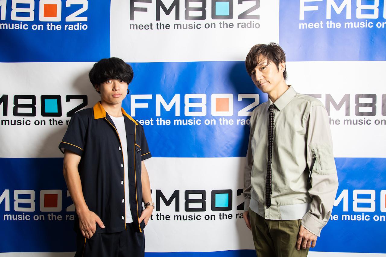 石原慎也(Saucy Dog)落合健太郎(FM802 DJ)