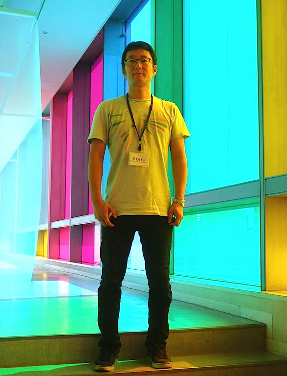 田島秀彦《6つの余地と交換可能な風景》/愛知芸術文化センター11階 展望回廊 「地元で開催される思い入れの強い国際展なので、参加が決まってとても嬉しかった。自分らしい作品にしたいと思います」