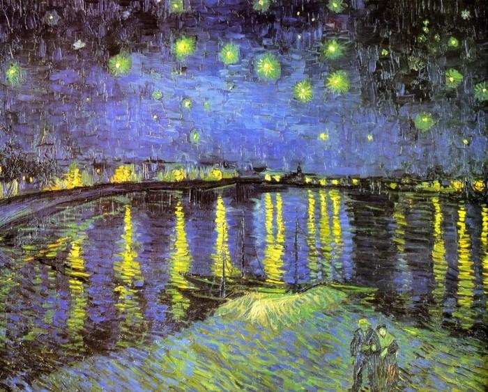 フィンセント・ヴァン・ゴッホ 「ローヌ河の星月夜」 1888 オルセー美術館