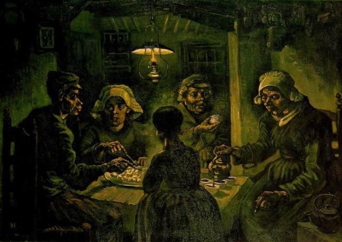 フィンセント・ヴァン・ゴッホ 「ジャガイモを食べる人たち」 1885 ファン・ゴッホ美術館