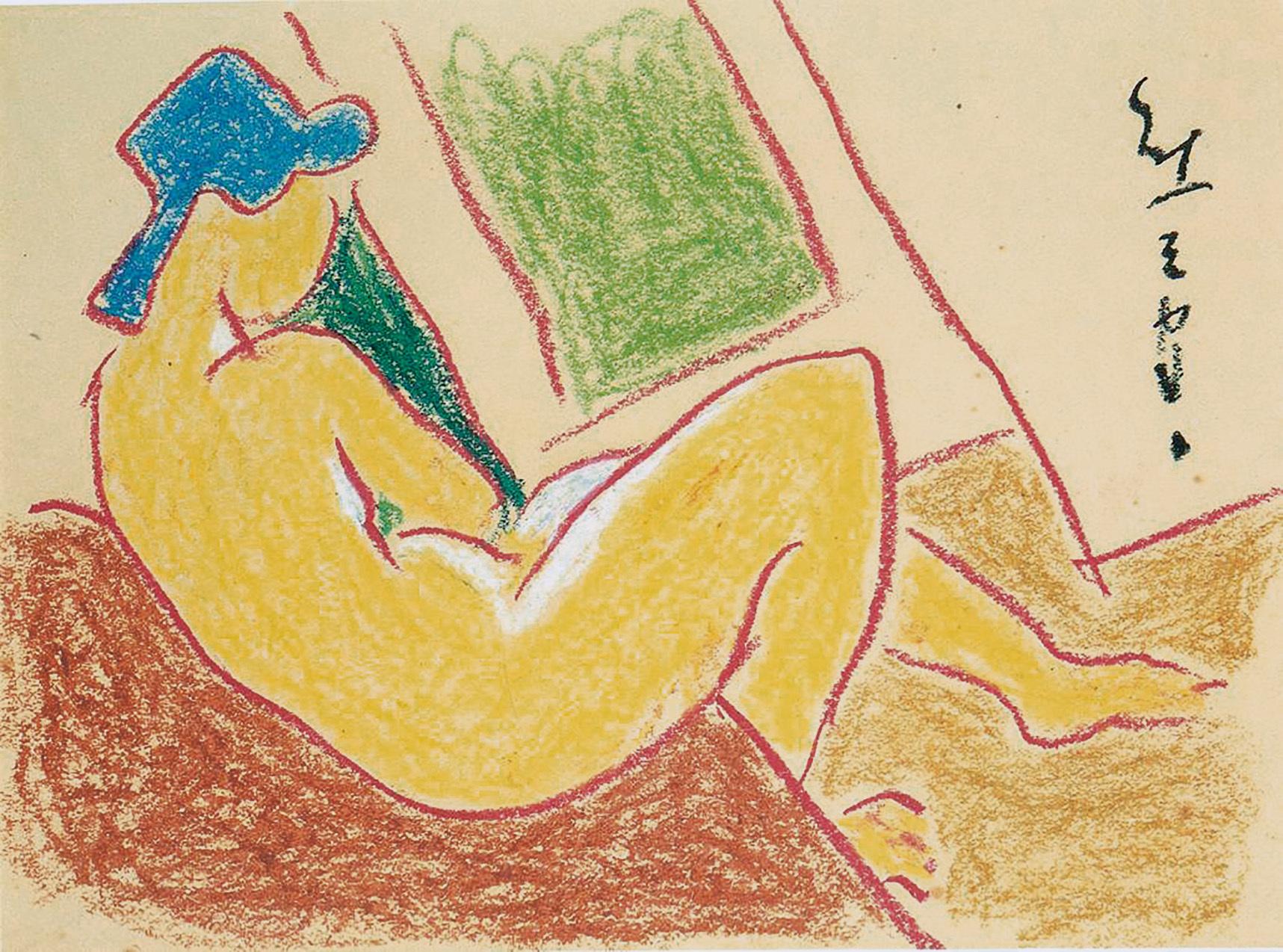 熊谷守一《裸婦》 制作年不明28.6×37.2cmサクラアートミュージアム蔵