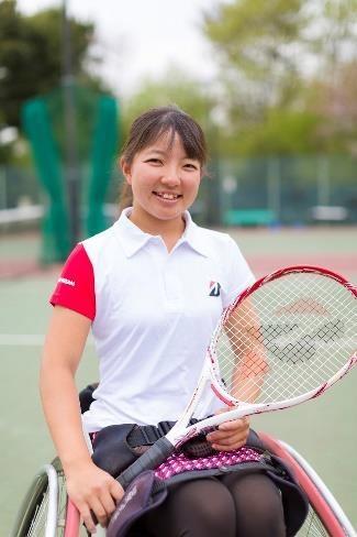 車いす女子テニス国内ランキング4位の田中愛美