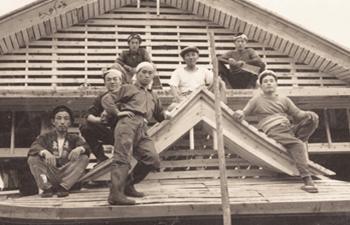 建設中の銭湯(昭和20年代)