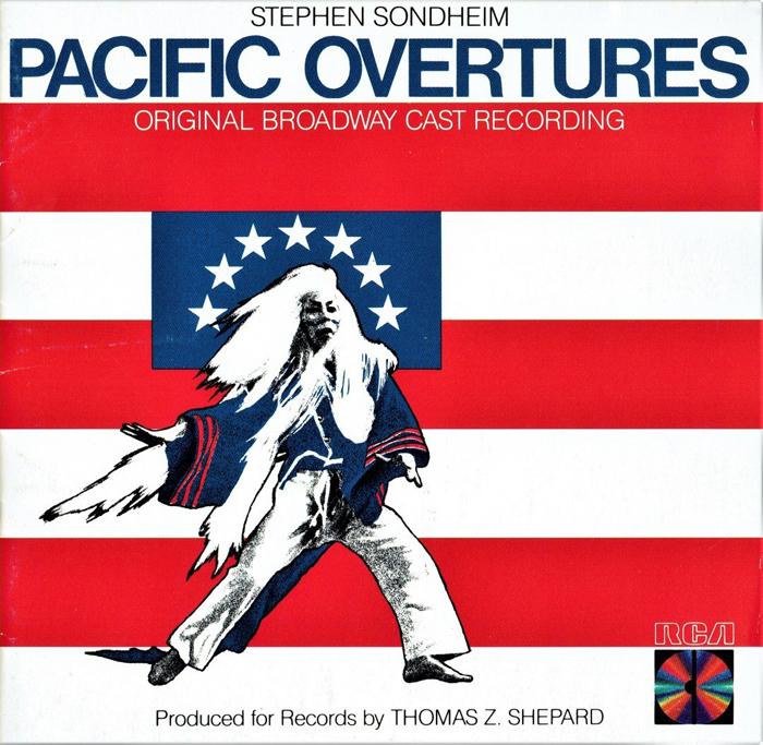 『太平洋序曲』初演(1976年)のオリジナル・キャストCD(輸入盤)。岩松の無骨な歌いっぷりが聴き応え十分で、ソンドハイムの楽曲も秀逸だ。