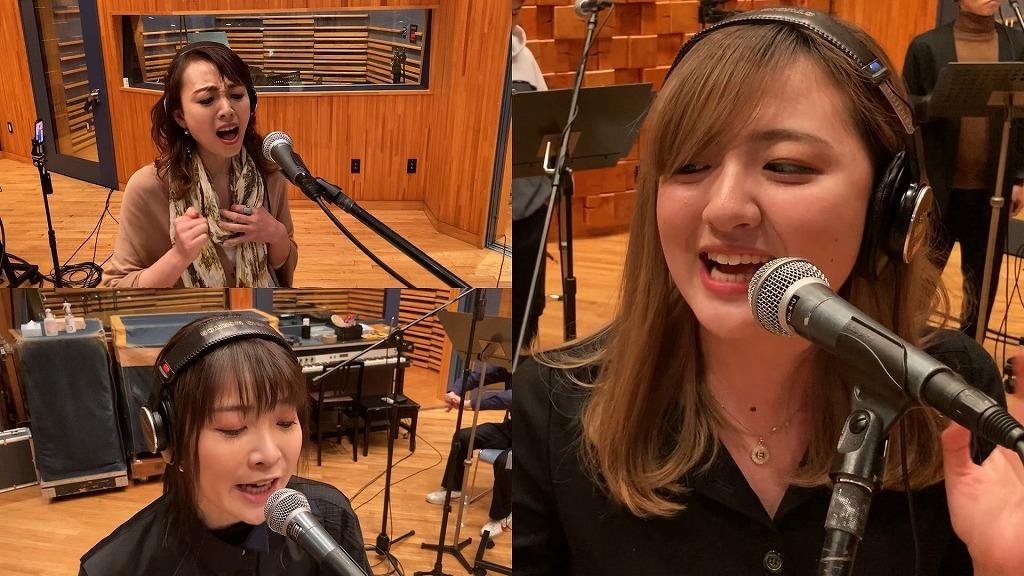 (上段左)樋口麻美、(下段左)May'n、(右)鈴木瑛美子
