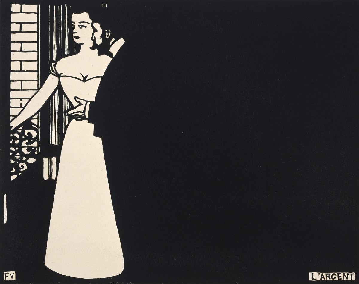 フェリックス・ヴァロットン《お金(アンティミテⅤ)》 1898年 木版 三菱一号館美術館