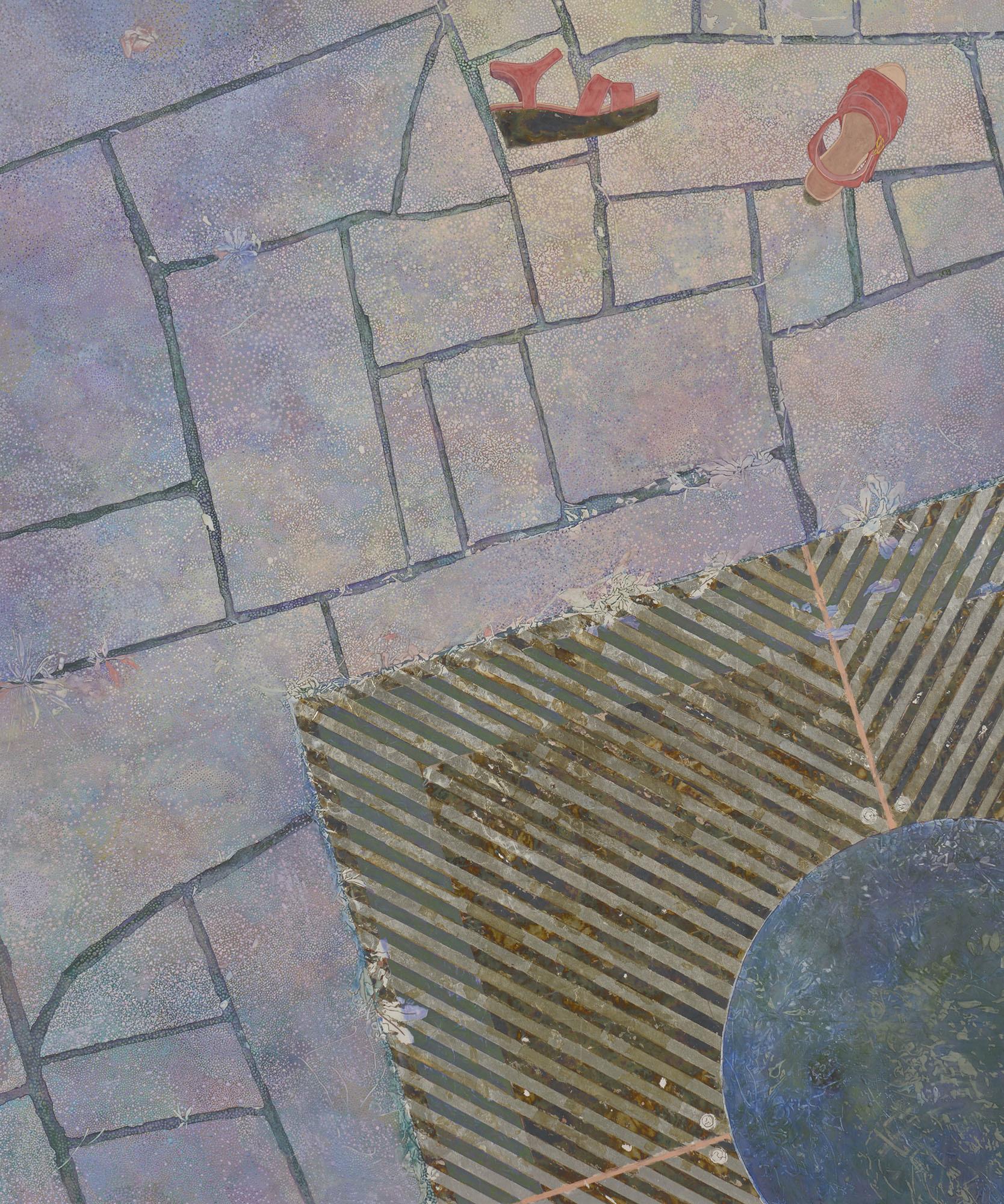 片野 莉乃(かたの りの) 《swimmer》2016 年 岩絵具・胡粉・箔・雲肌麻紙 200×168 ㎝ 1992 年生まれ (審査員:本江邦夫)