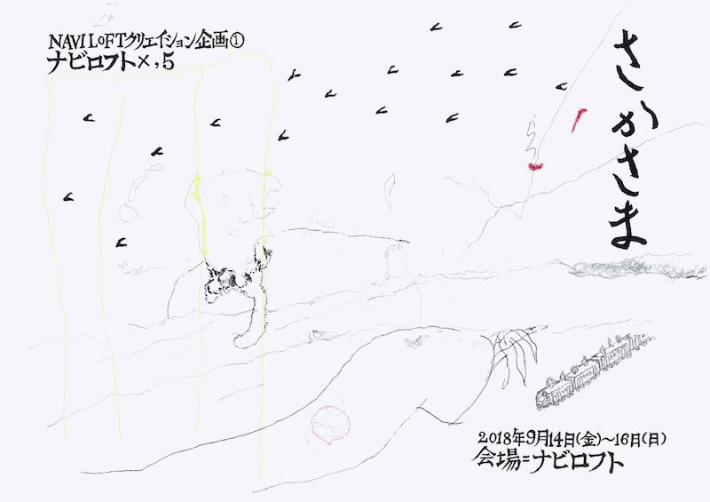 NAVI LOFTクリエイション企画① ナビロフト×,5『さかさま』チラシ表