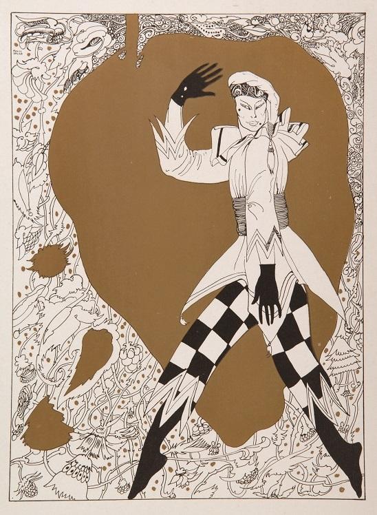 ロベルト・モンテネグロ『ペトルーシュカ』/限定書籍『ワツラフ・ニジンスキー:黒・白・金で彩られた作品の芸術的解釈』イギリス1913年