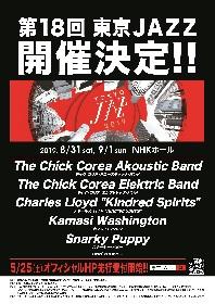 『第18回 東京JAZZ』 チック・コリアがアコースティック&エレクトリック2公演、チャールス・ロイドら第1弾出演者発表
