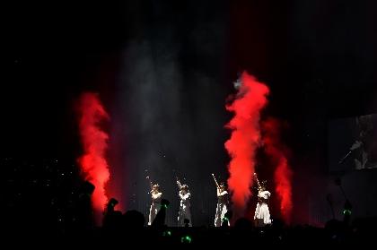 Little Glee Monster グループ最大規模のさいたまスーパーアリーナでもその存在を近くに感じさせた、鮮やかな歌声とメンバーの覚悟