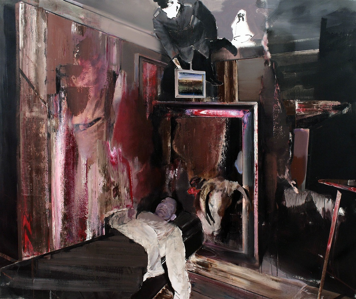 エイドリアン・ゲーニー 《THE COLLECTOR 4》2009年 © Adrian Ghenie  Courtesy of Galeria Plan B photo : The Artist