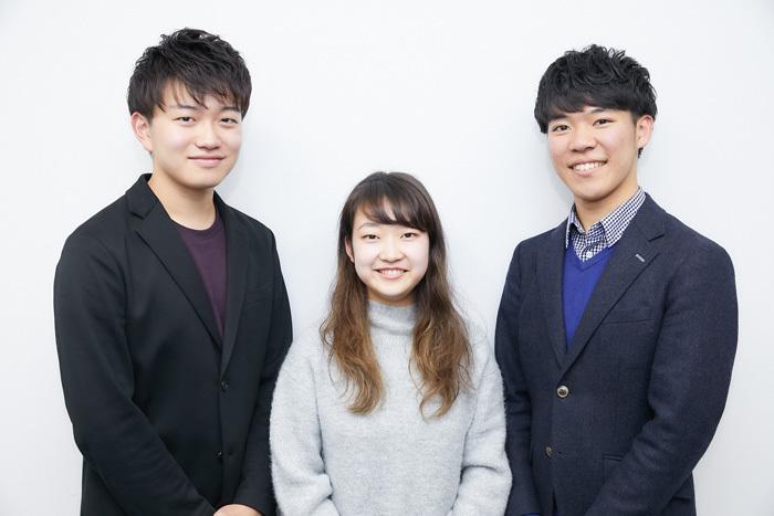 トリオ・クレスコ(左から 泉優志、戸澤采紀、西川響貴)