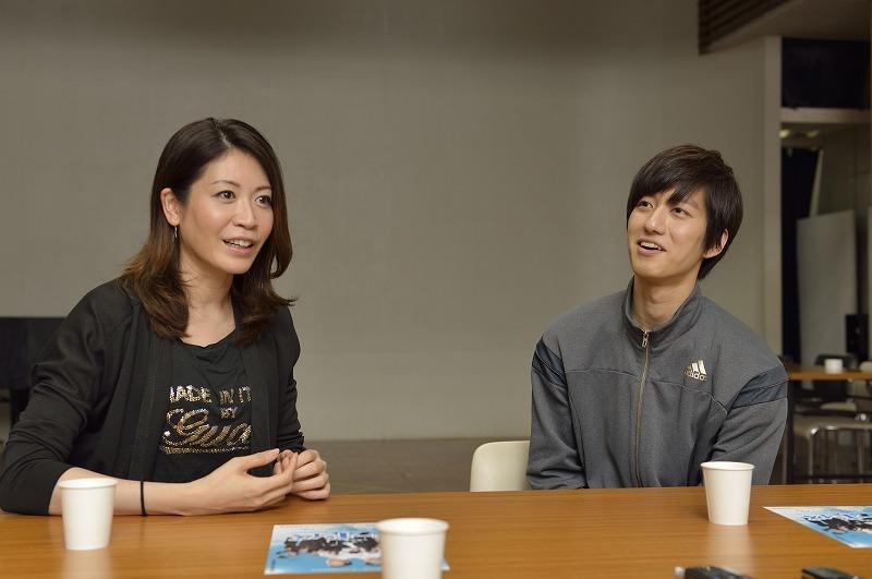 (左から)悠未ひろ、水田航生