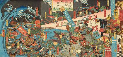 正体不明の浮世絵師・歌川広景展、江戸っ子が馬鹿騒ぎ&青物と魚が大合戦