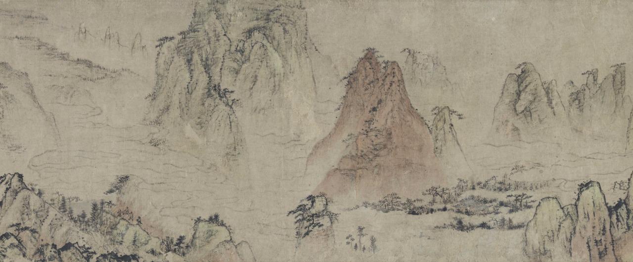 重要文化財 石濤「黄山図巻」(部分)清・康熙38年(1699)(泉屋博古館)