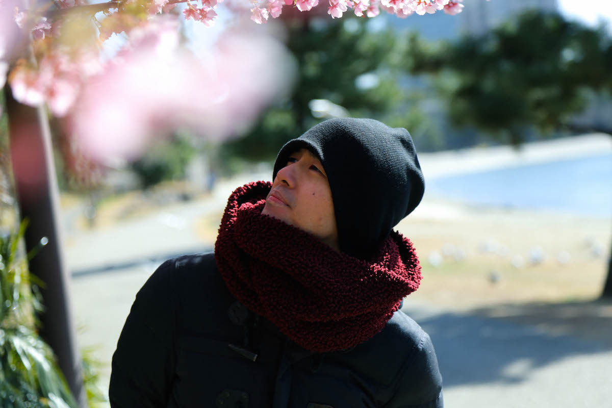 早咲きの桜が春の訪れを予感させる