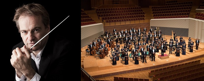 (左から)ジョナサン・ノット、東京交響楽団