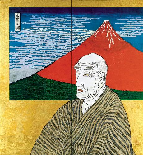 片岡球子《面構 葛飾北斎》1971年 神奈川県立近代美術館