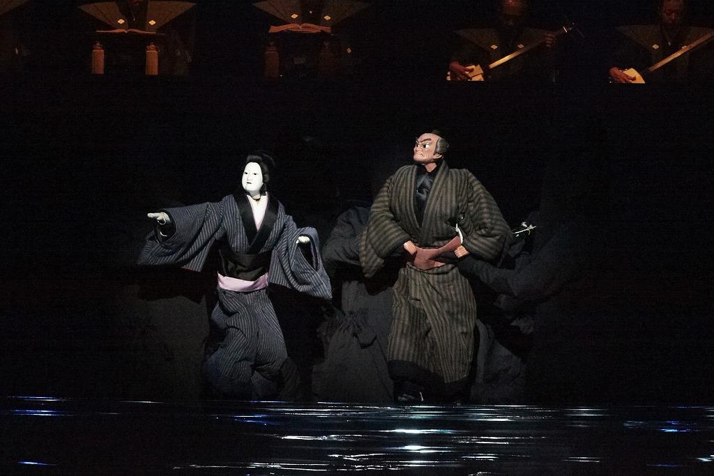 三谷文楽 『其礼成心中』舞台写真 撮影:尾嶝太