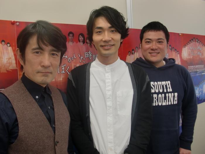 (左から)西川浩幸・阿部丈二・筒井俊作