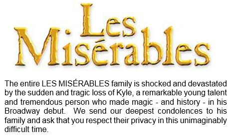 Les Misérables @LesMizBway  8月29日のTweetより