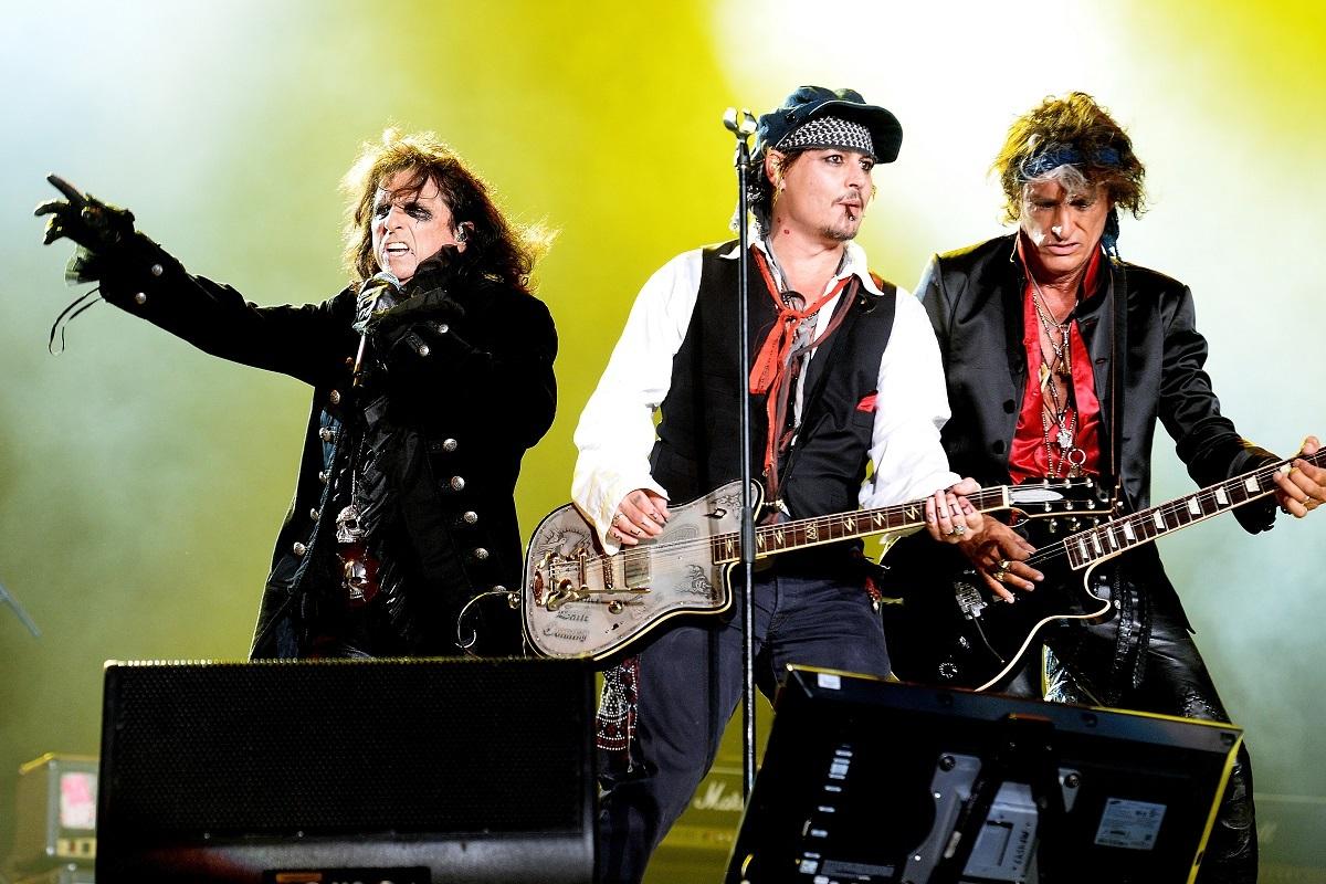 ハリウッド・ヴァンパイアーズ(L⇒R:アリス・クーパー、ジョニー・デップ、ジョー・ペリー) 写真:Getty Images