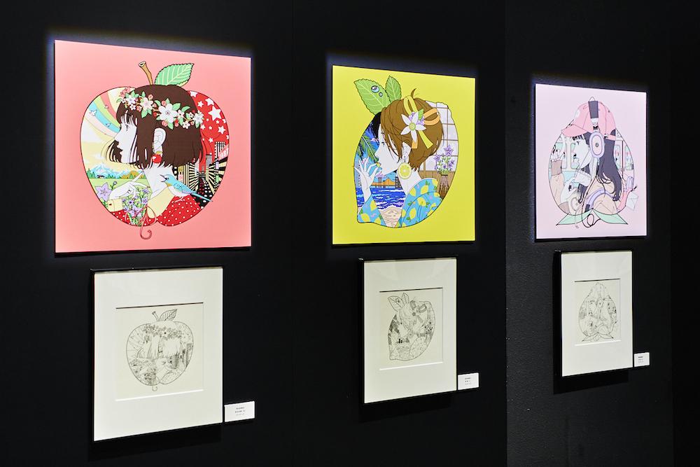 『中村佑介展 BEST of YUSUKE NAKAMURA』展示風景