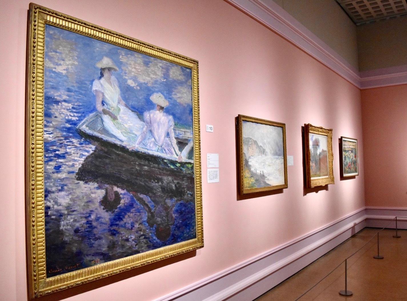 左:クロード・モネ 《舟遊び》 1887年 国立西洋美術館蔵