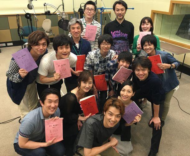 NHK-FM「青春アドベンチャー『また、桜の国で』」収録風景。(写真提供:NHK)