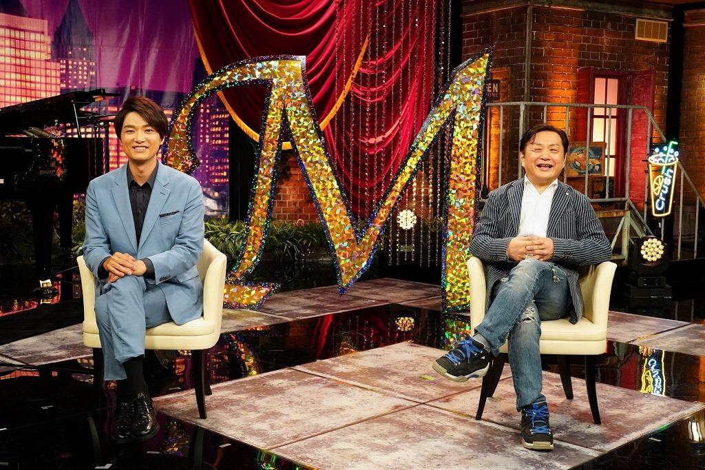 (左から)井上芳雄、小池修一郎