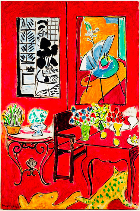 アンリ・マティス『大きな赤い室内』1948 Photo: Bertrand Prévost - Centre Pompidou, MNAM-CCI