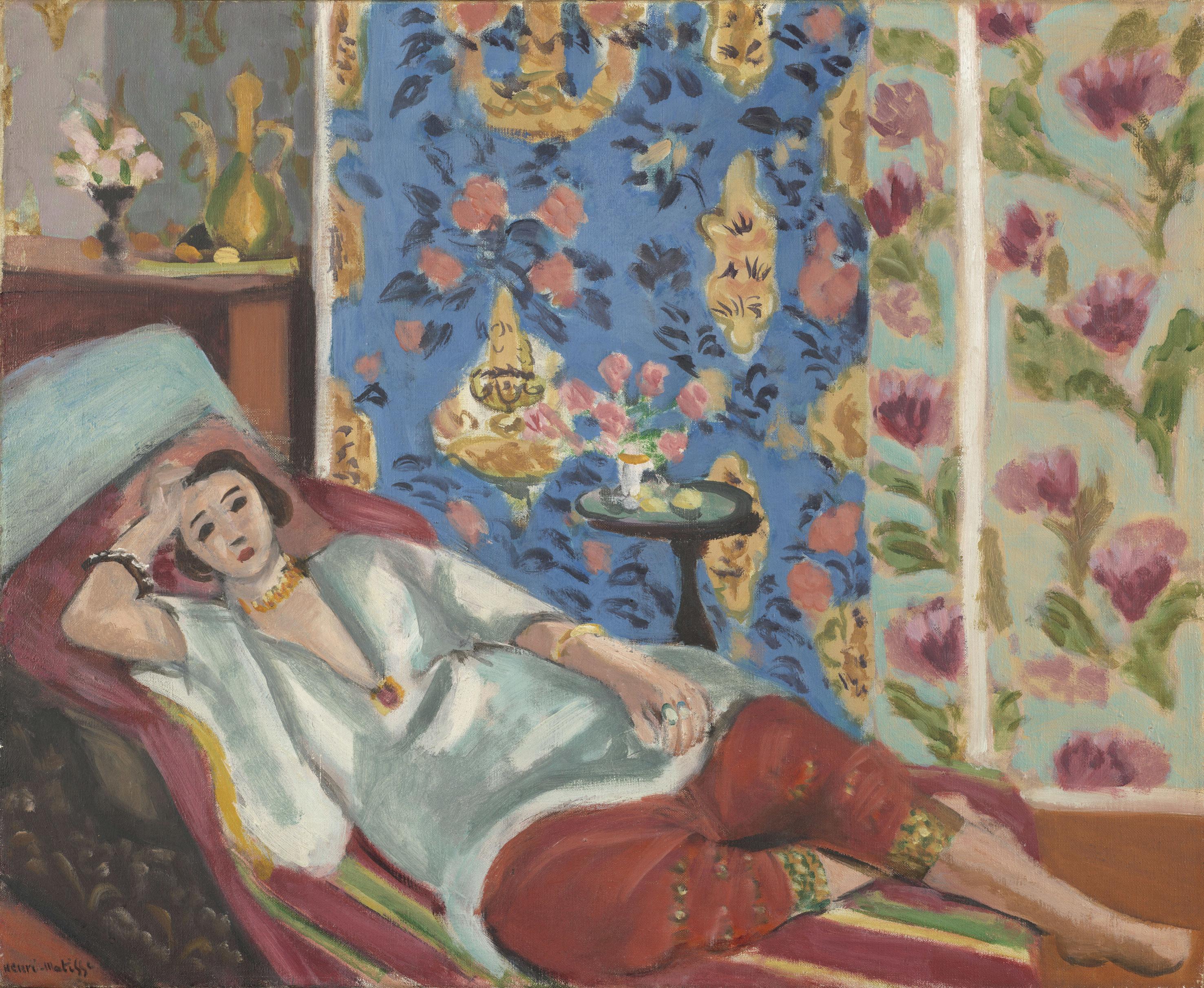 アンリ・マティス《赤いキュロットのオダリスク》1924-1925年頃、油彩・カンヴァス、50×61cm、オランジュリー美術館 (C) RMN-Grand Palais (musée de l'Orangerie) / Michel Urtado / Benoit Touchard