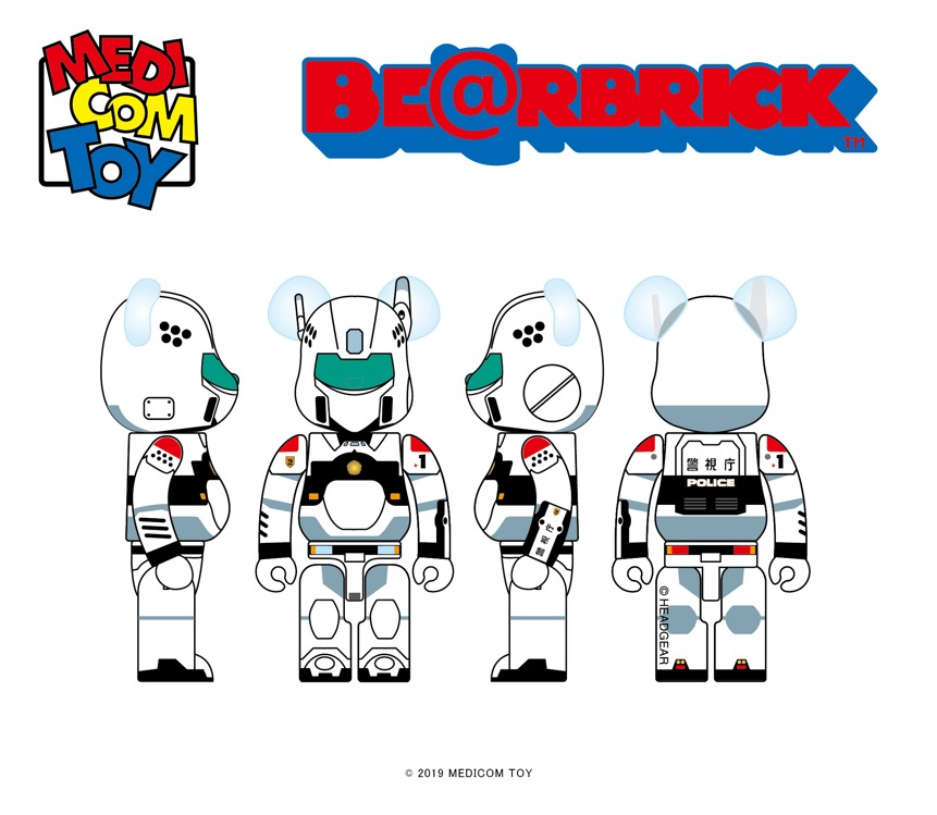 BE@RBRICK PATLABOR AV-98 INGRAM 100%&400% 12,000円(税別)
