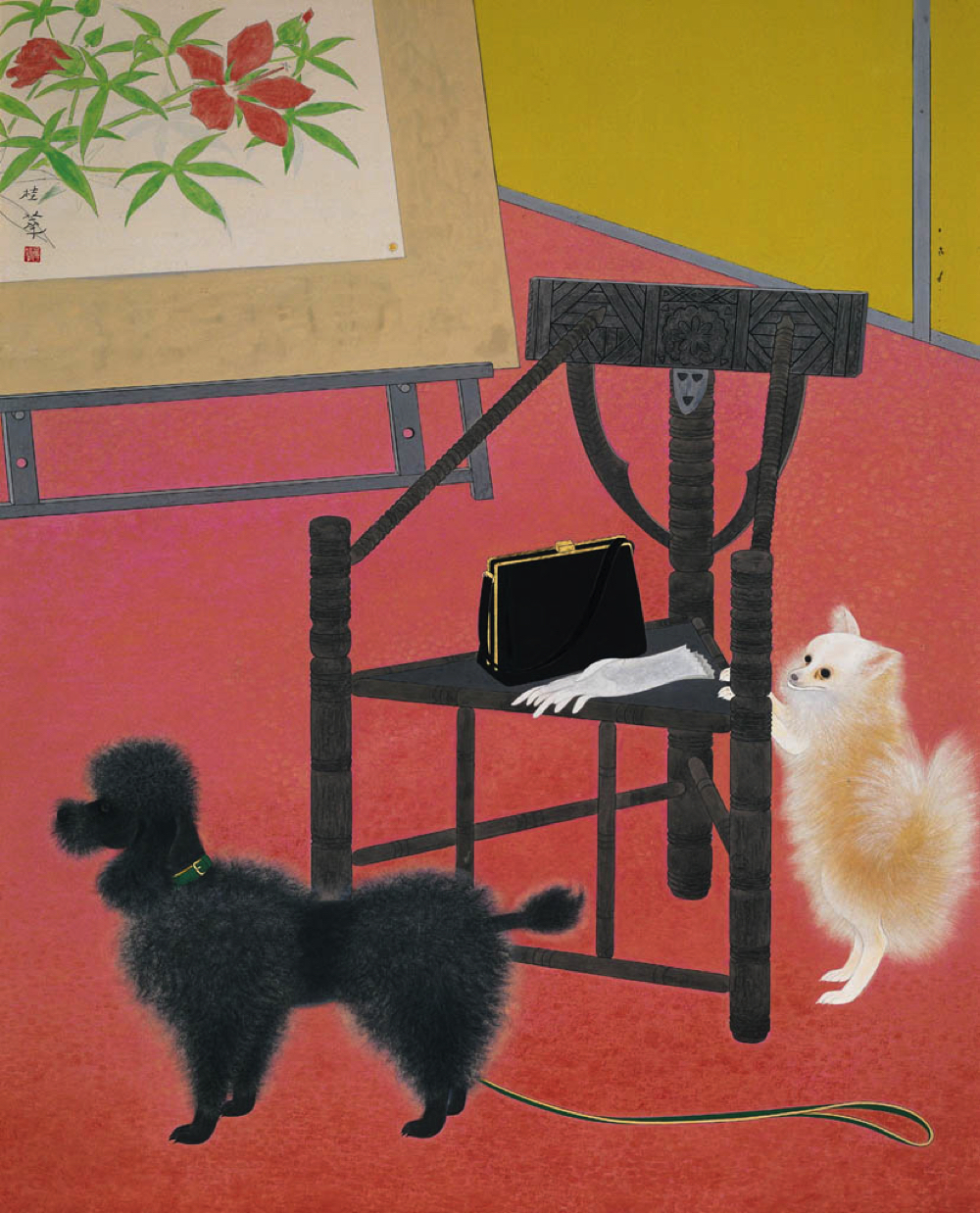 金島桂華《画室の客》  主催:京都市、美術館「えき」KYOTO、京都新聞