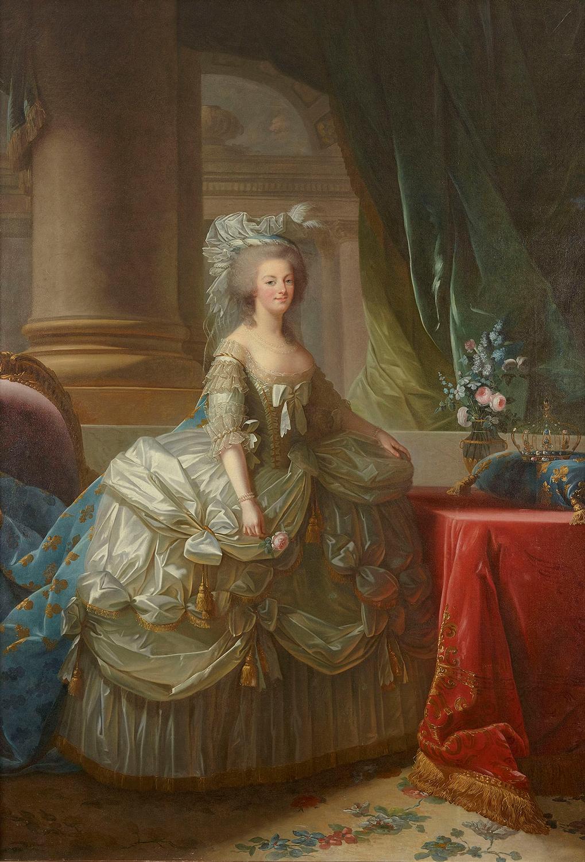 """エリザベト=ルイーズ・ ヴィジェ・ル・ブラン『フランス王妃 マリー・アントワネット』1785年 ヴェルサイユ宮殿美術館 """"©Château de Versailles (Dist. RMN-GP)/ ©Christophe Fouin"""""""