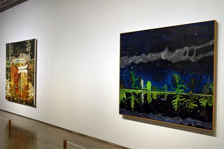 右:《天の川》1989–90 油彩、キャンバス 152x204cm 作家蔵