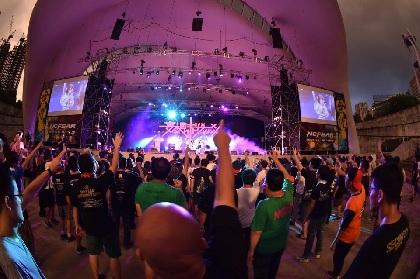 妄想キャリブレーション、海外ツアー最終公演でずぶ濡れ 台湾で『NO FEAR FESTIVAL 2017』に出演
