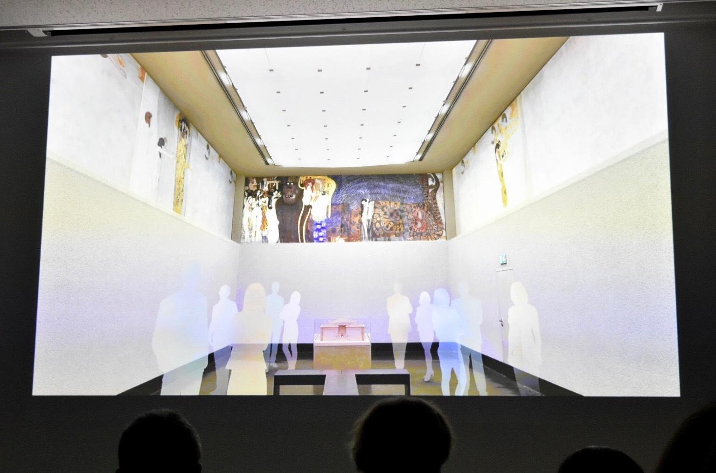 《ベートーヴェン・フリーズ》分離派会館の展示イメージ